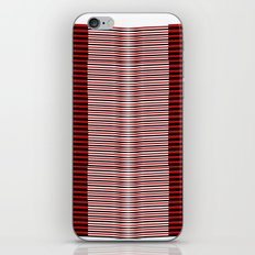 Black and red lines background iPhone Skin