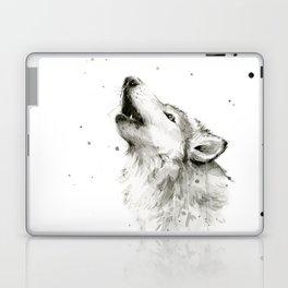 Wolf Howling Laptop & iPad Skin