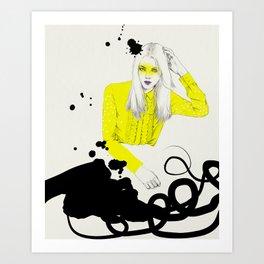 Yellow Shirt Art Print