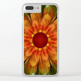 Artistic fantasy succulent flower Clear iPhone Case