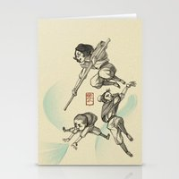 airbender Stationery Cards featuring Airbender Kids by OliLai