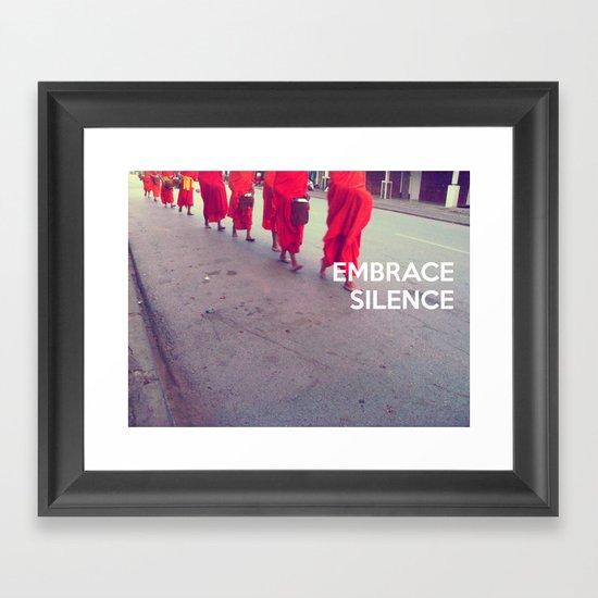 Embrace Silence Framed Art Print