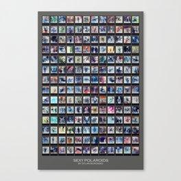 128 Sexy Polaroids in Negative Canvas Print