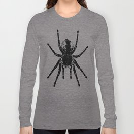 Scary Tarantula Spider Halloween Black Arachnid Long Sleeve T-shirt