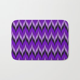 Bargello Pattern in Purple and Black Bath Mat