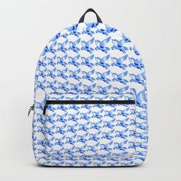 Minimalist Blue Pegasus Bubble Print Backpack