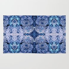 Frozen floral, nature, woodland, hippie, mandala, psychedelic Rug
