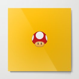 Geometric Power Up Mushroom Metal Print