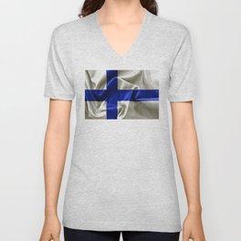 Finland Flag Unisex V-Neck