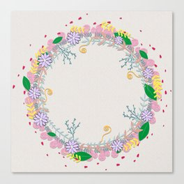 Spring Wreath Canvas Print