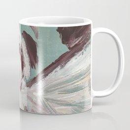Impressionistic Angel #2 Maroon & Ivory Coffee Mug