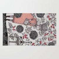garden Area & Throw Rugs featuring Winter Garden by Judith Clay