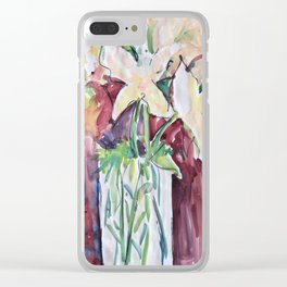 Wild Flowers in Color, Watercolors Clear iPhone Case