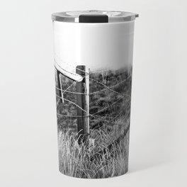Black and White Fence Travel Mug