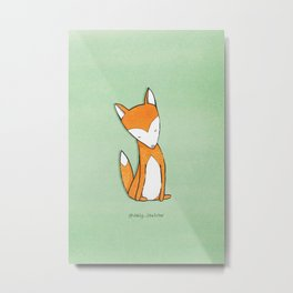 Chill Fox Metal Print