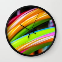 games Wall Clocks featuring Colorful Games by Nathalie Photos