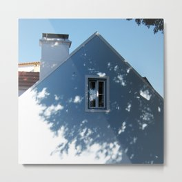 Tree shadow on a house facade Metal Print