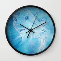 peter pan Wall Clocks featuring Peter Pan by Boho déco