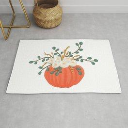 Pumpkin Florals Rug