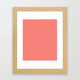 Congo Pink - solid color Framed Art Print