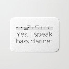 I speak bass clarinet Bath Mat