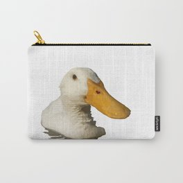 Close Up Portrait of A Cute Domestic White Duck Vector Style Carry-All Pouch
