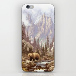 Grizzly Bear Landscape iPhone Skin