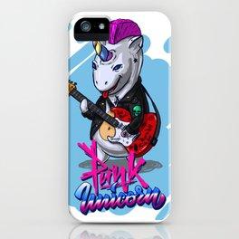 Punk Unicorn iPhone Case