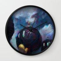 mario kart Wall Clocks featuring Mario by Ronan Lynam
