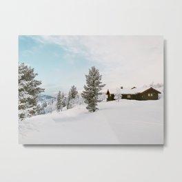 White Winter Metal Print