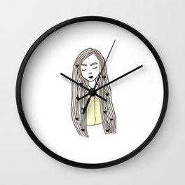 Yellow Girl Wall Clock