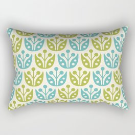 Mid Century Flower Pattern 10 Rectangular Pillow