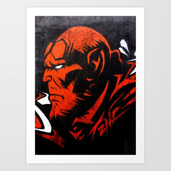 Hell Boy Art Print