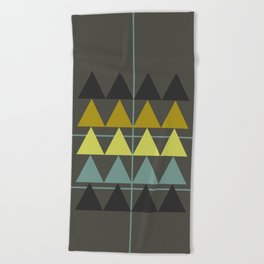 disguise forest || spring neon Beach Towel