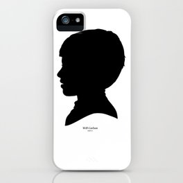 Will Carlson Silhouette iPhone Case