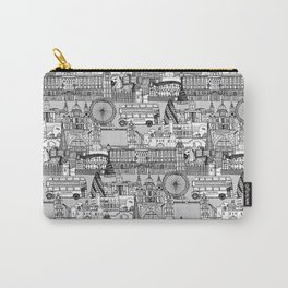 London toile black white Carry-All Pouch