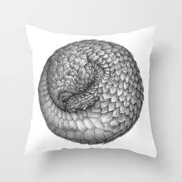 The Infinite Pangolin Throw Pillow