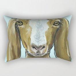 Goat Art, Cute Farm Animal Painting Rectangular Pillow