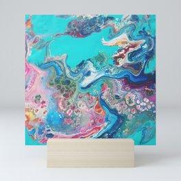 Rainbow Sea Dragon - Abstract Acrylic Art by Fluid Nature Mini Art Print