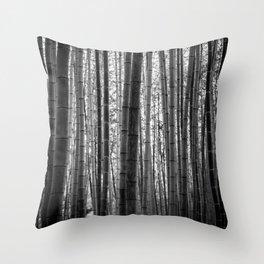 Bamboo Monochrome Throw Pillow