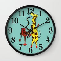 dance Wall Clocks featuring Dance by Anna Shell