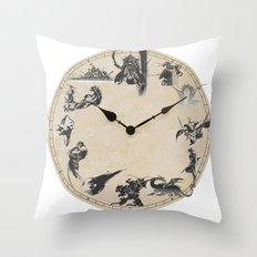 FINAL FANTASY CLOCK Throw Pillow