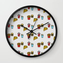 Baesic Fast Food Pack Wall Clock