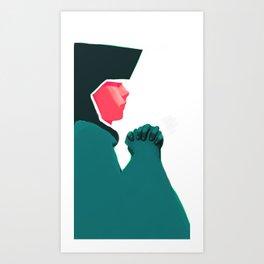 Untitled digital drawing Art Print