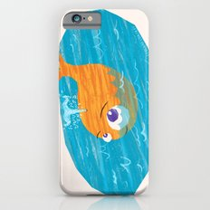 Orange Whale Playing in the Sea Slim Case iPhone 6s