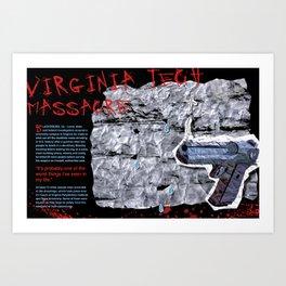Virginia Tech Editorial Art Print