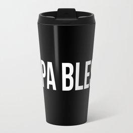 Papa Bless - version 2 - white Travel Mug