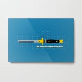 Switchblade Comb Crash Test Metal Print