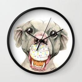 Pittie Cupcake Wall Clock
