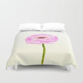 pink cultivited buttercup, Ranunculus Duvet Cover